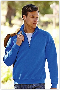 Fruit of the Loom - Zip Neck Raglansweat
