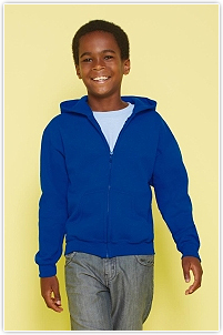 Gildan - Kids' Full Zip Hooded Sweat