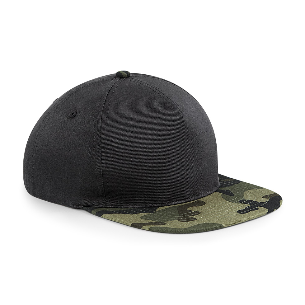 beechfield camo snapback cap besticken. Black Bedroom Furniture Sets. Home Design Ideas
