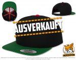 schwarz, grün, rote Flexfit Classic Snapback Caps besticken