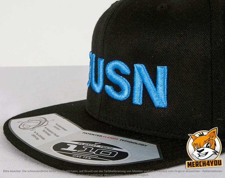 1febbd06921 schwarze Flexfit 110 Fitted Snapback Caps besicken mit normaler und 3D  Stickerei