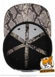 Flexfit 6089PR - black/cobra; Innenansicht