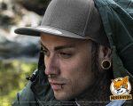 dunkelgrau, dunkelgraue Flexfit Classic Snapback Caps besticken