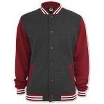 dreifarbige College Sweat Jacke