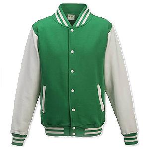 einfache zweifarbige College Sweat Jacke - Just Hoods