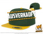 grün, goldgelbe Flexfit 5 Panel Snapback Caps besticken