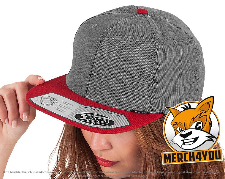 f68165b299a Flexfit 110 Fitted Snapback Caps besticken