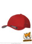 Flexfit 6511 - red, Frontansicht gedreht