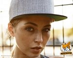 grameliert, schwarze Flexfit Classic Snapback 2-Tone Caps besticken