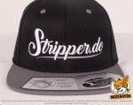 schwarz, graue Flexfit 110 Fitted Snapback Caps besicken mit normaler Stickerei