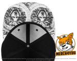 Flexfit 6089SK - black,white; Schirmansicht