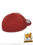 Flexfit 6595 - red/white, Rückenansicht gedreht