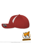 Flexfit 6595 - red/white, Seitenansicht Links