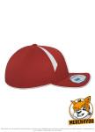 Flexfit 6595 - red/white, Seitenansicht Rechts