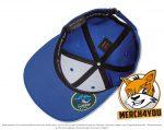 Innenansicht der royalblauen Flexfit Cool & Dry Mini Pique Caps mit Stickerei