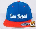 royalblau, orangene Flexfit Classic Snapback 2-Tone Caps besicken mit 3D Stickerei