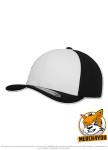 Flexfit 6580W - white/black, Frontansicht gedreht