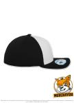 Flexfit 6580W - white/black, Seitenansicht Rechts